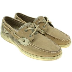 Sperry Topsider Tan Leather 2 Eye Boat Shoes